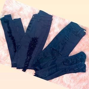 Black Ripped skinny Jeans BUNDLE 😍